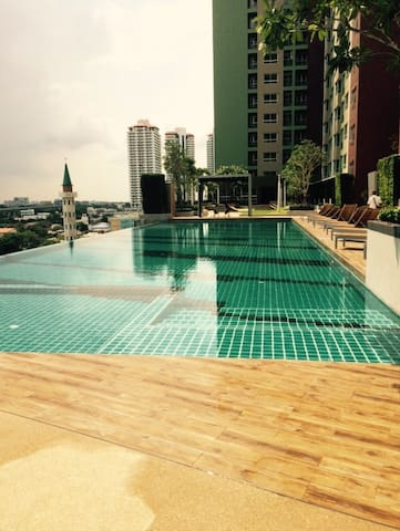 close to airport link station huamak good view - suanluang
