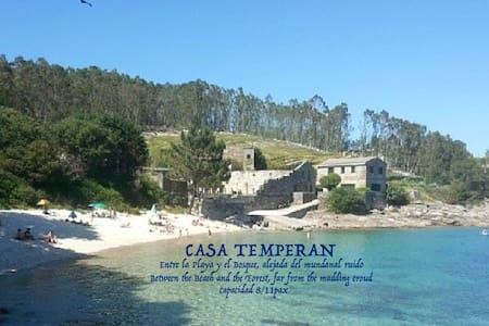 Temperan, Casa de alquiler 2/11 pax - cangas del Morrazo  - บ้าน