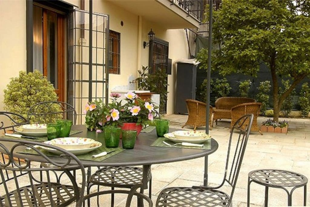 A lovely garden to relax in after a day sightseeing in Florence