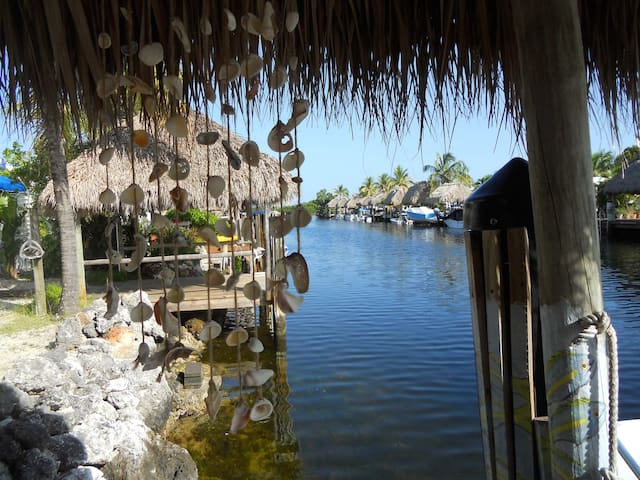 Key Largo Waterfront Home with Tiki & Boat Dock