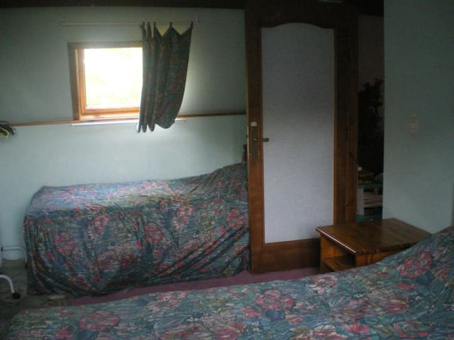 Bedroom 2. Double and single beds.