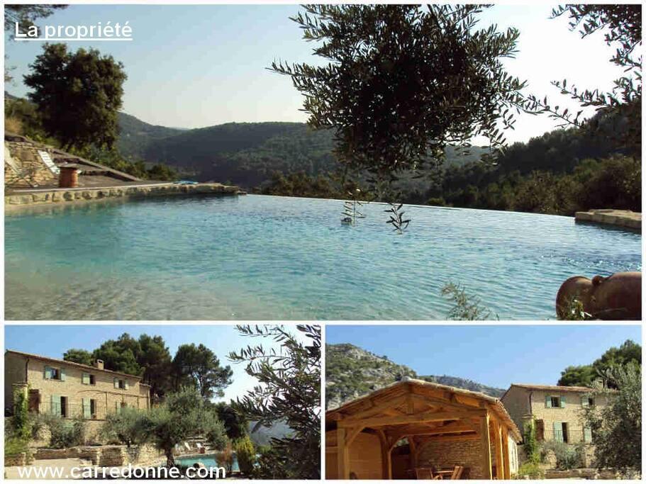 La piscine, une vue d'ensemble de notre propriété