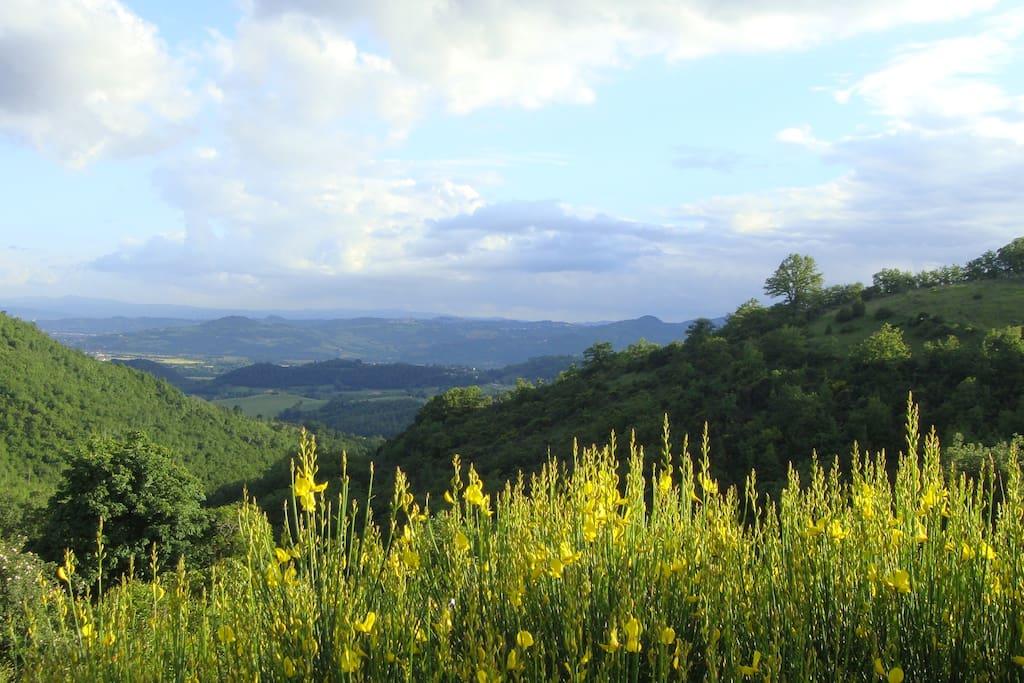 Vista sulla valle tiberina