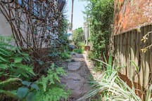 Private pathway leading to entrance
