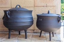Pootjie pots ( a South African tradition ) for the adventurous outdoor cooks