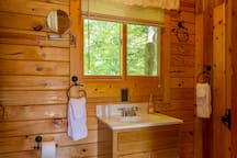 Private bathroom with shower stall. Towels and Accessories provided.