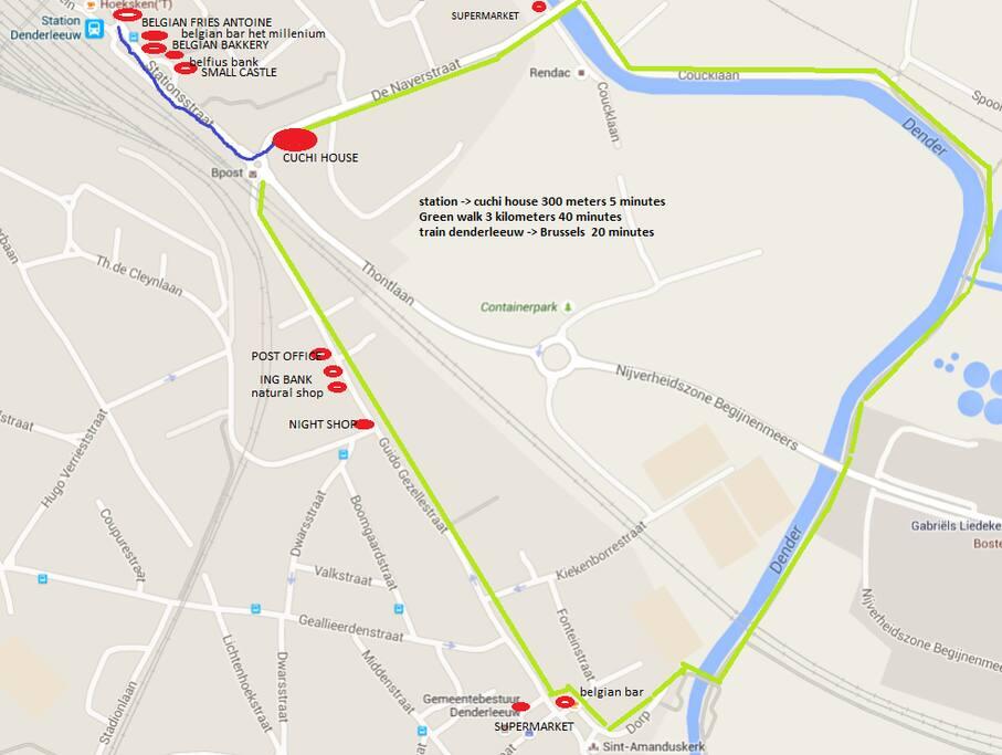 map of Denderleeuw