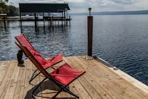 Relax and lounge on the dock