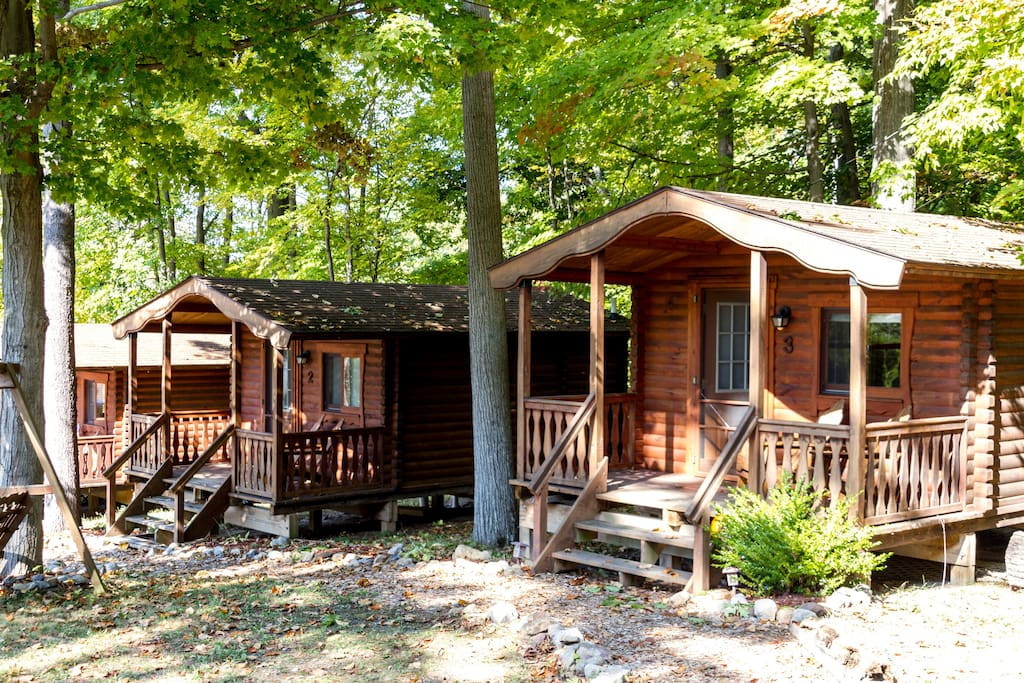 Three fully equipped charming cabins.  Enjoy one for yourself or book all three with friends or family.