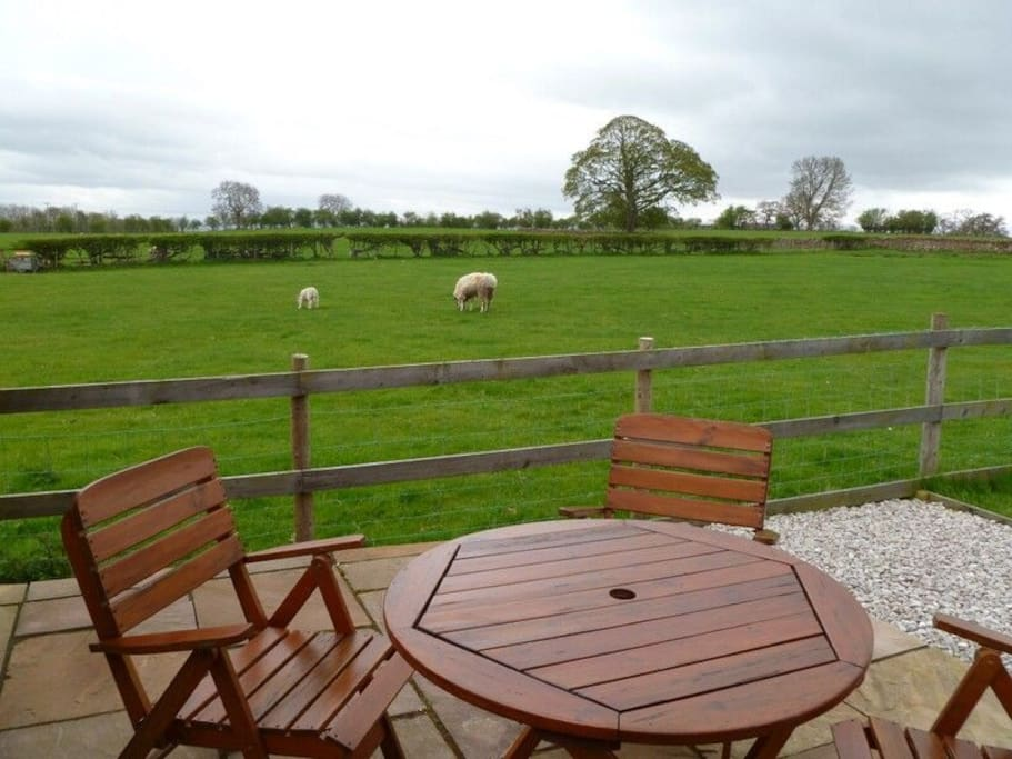 Buttercup Cottage, patio view, Lakes Cottage Holidays