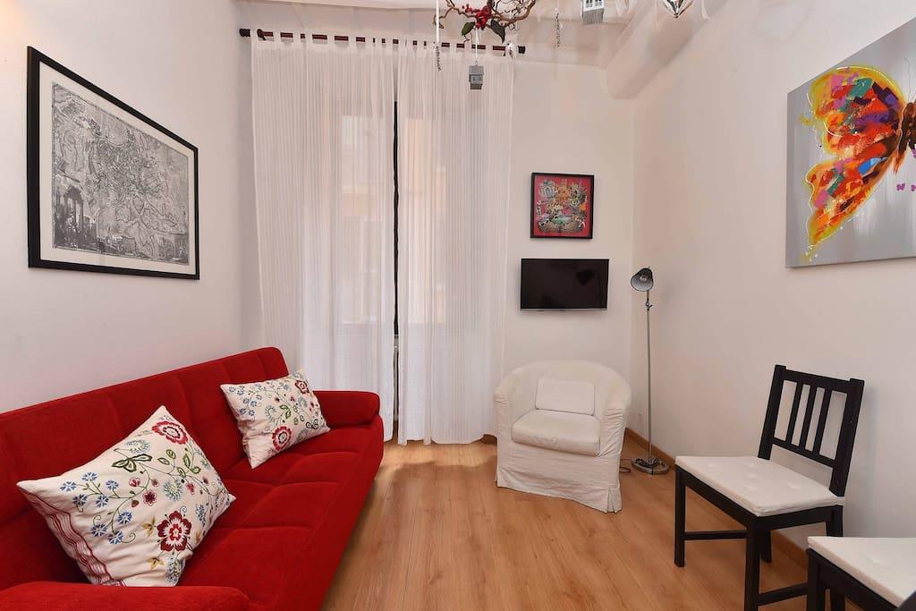Il salone con Sofa Bed