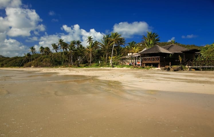 St Lucia Villa Valerie - view from the beach to the village