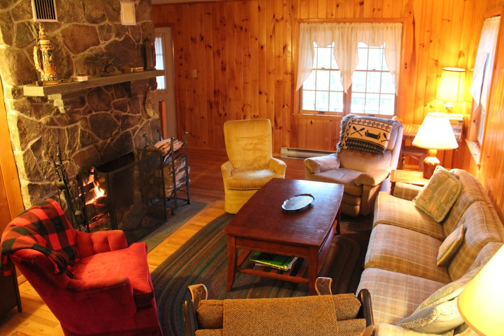 Gather in the living room to play cards, do a puzzle or curl up by the fire and read a book