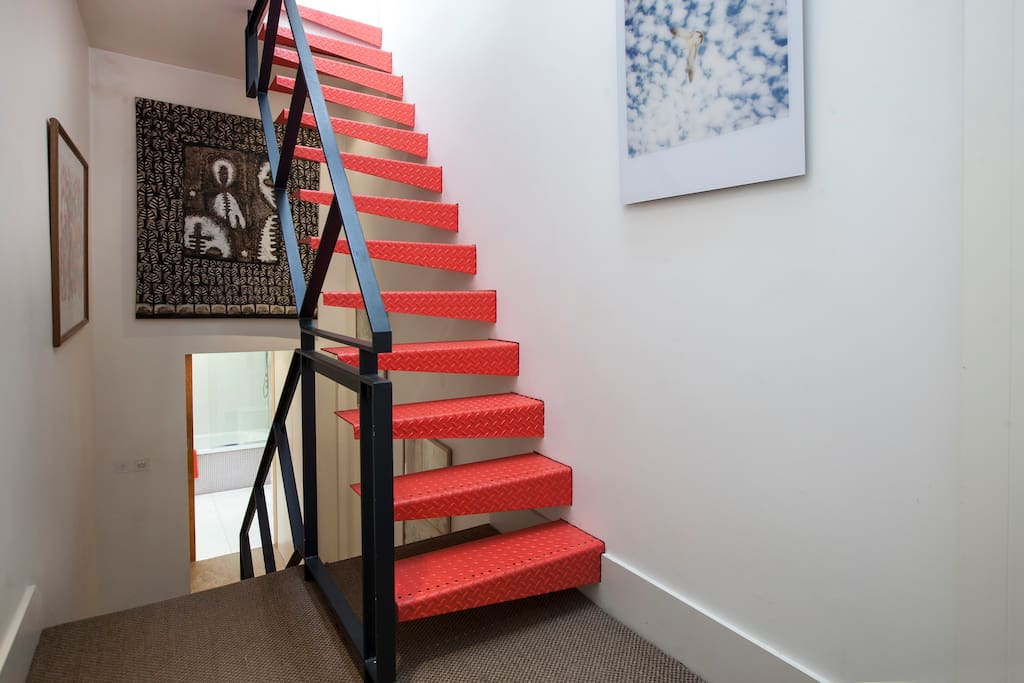 Hallway and stairway which leads you onto our stunning roof terrace