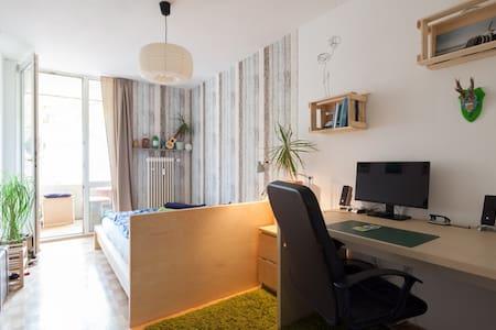 Central Balcony Room, 20 min. to Oktoberfest - Apartment
