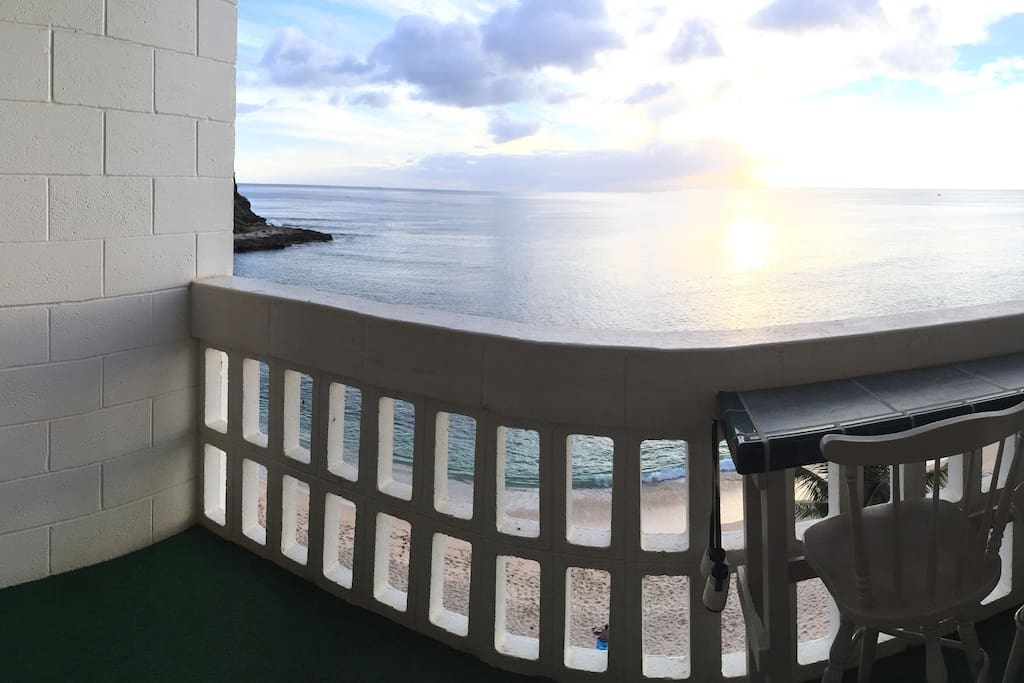 The lanai with a view that can't get any better.