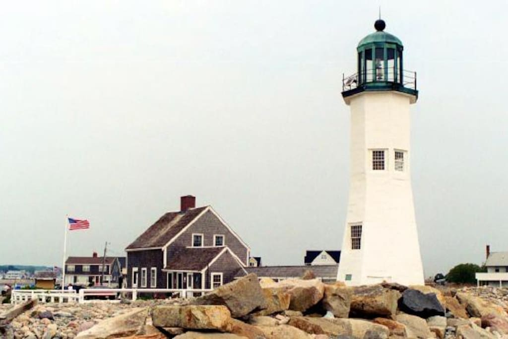Scituate Lighthouse - 30 yards from the house