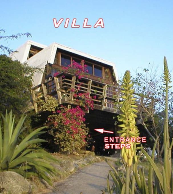 What the Villa looks like from the outside