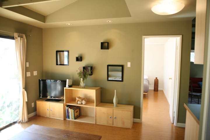 The living room with TV and Wii. Board games in the cabinets if you get bored.