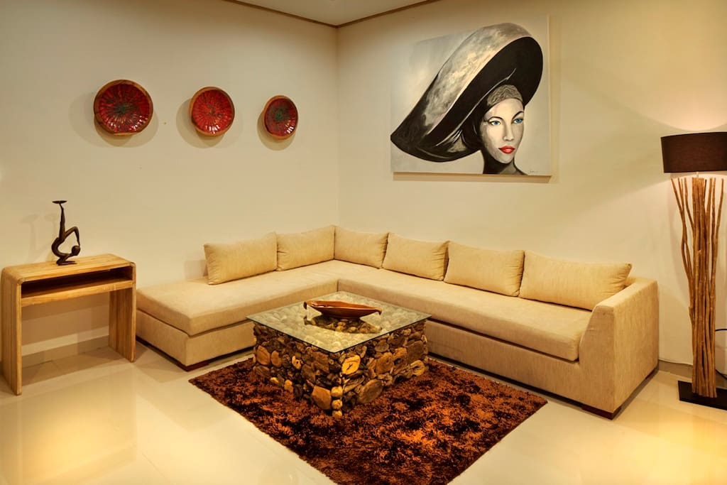Living room is open area