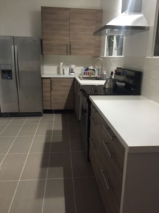 Brand new kitchen with stainless steel appliances I
