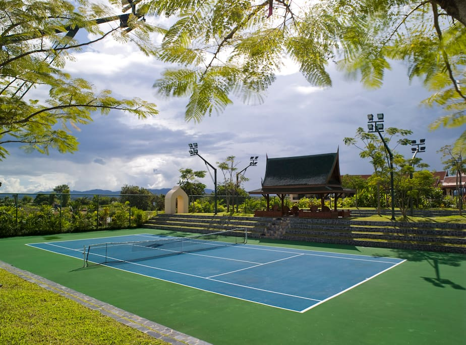 3 World class tennis courts, with LTA pro from UK.