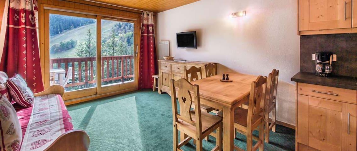 Le Vallon Meribel Center ski in out + parking - Méribel - Apartament