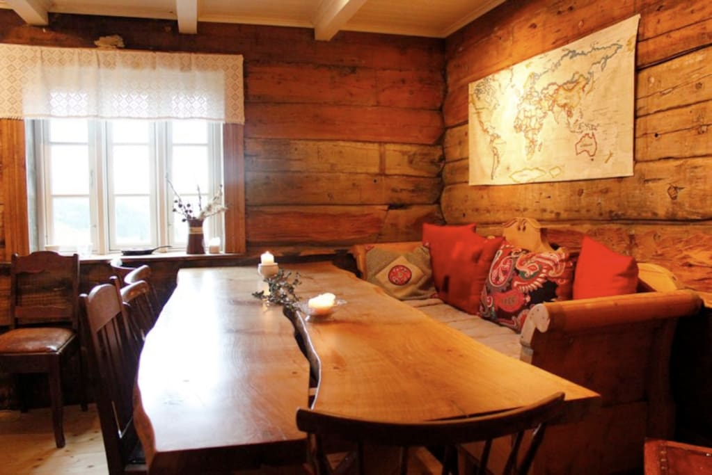 Inside these 400 years old walls you can enjoy your meals at a solid oak table