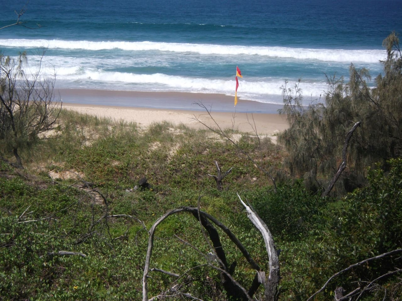 The beach, just 4 minutes away from the front door.