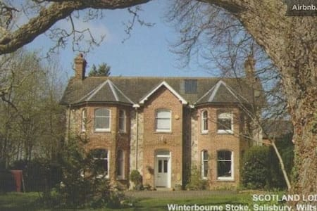 Stonehenge, Standard ensuite Twin - Winterbourne Stoke - 家庭式旅館