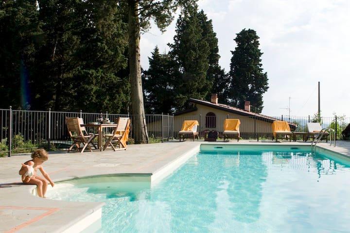 Fattoria Lavacchio:villa with private pool