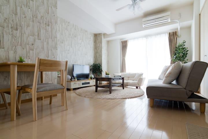 Natural room near Shinsaibashi - Ōsaka-shi - Huoneisto