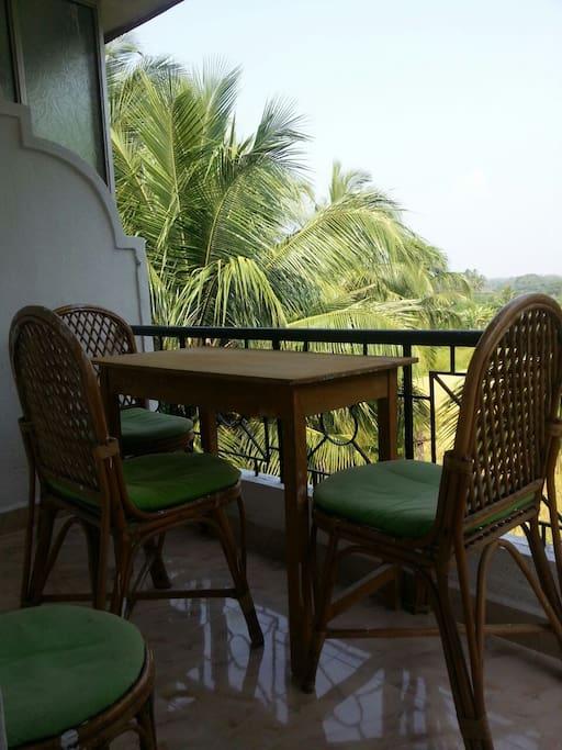 balcony with sitting arrangement