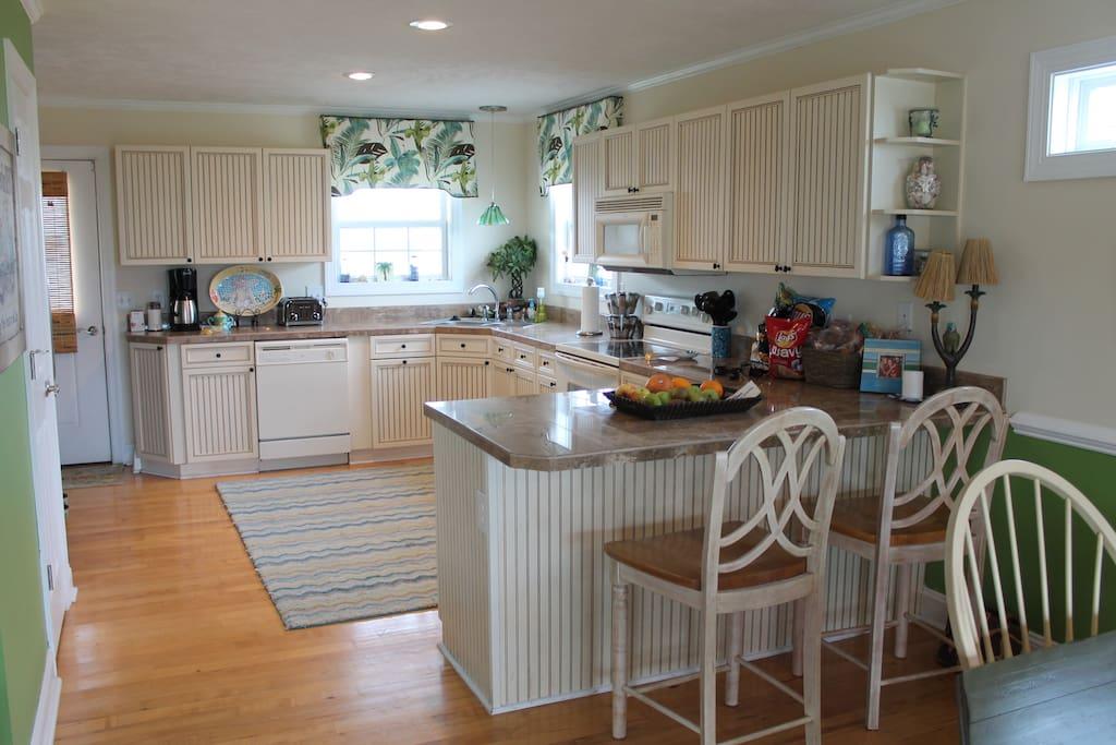 spacious, clean kitchen