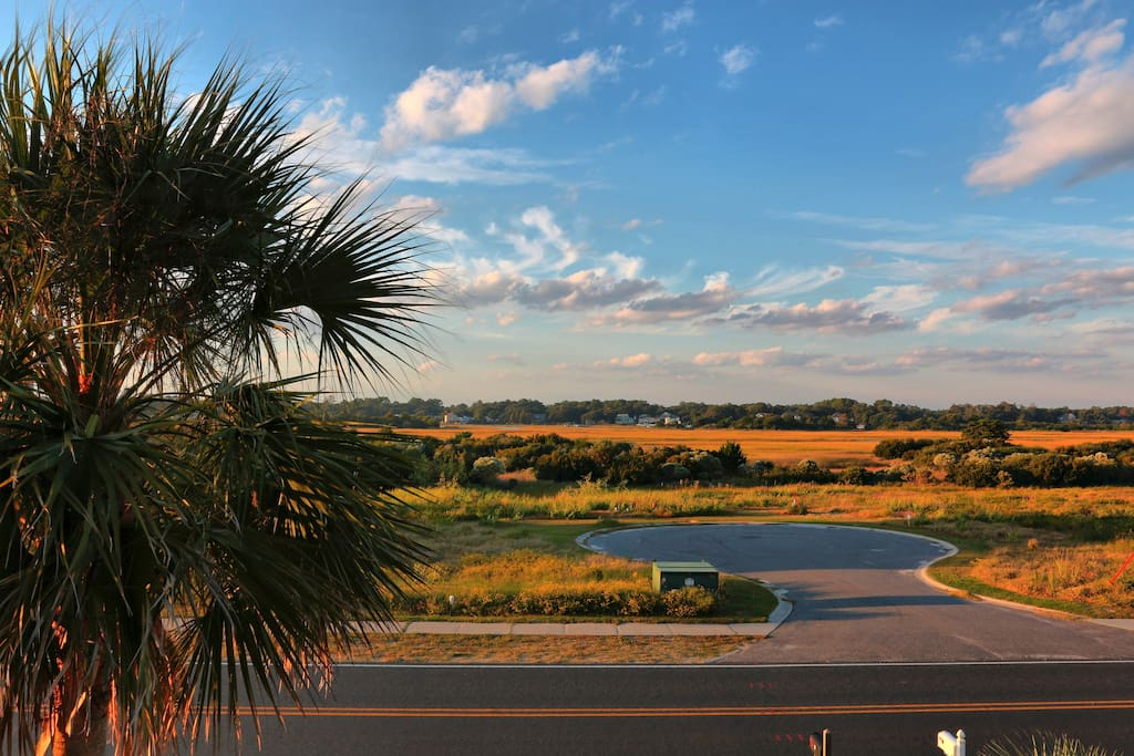 Looking out over the marsh -- view from front porches