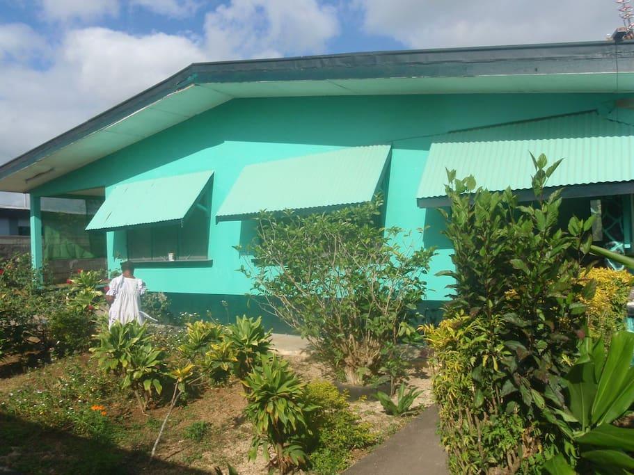 Front gardening.