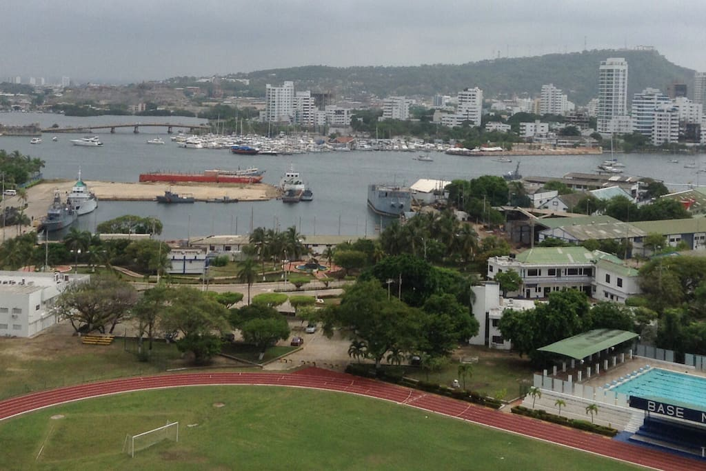Cartagena Bay with La Popa and the San Felipe Fort in the back ground!
