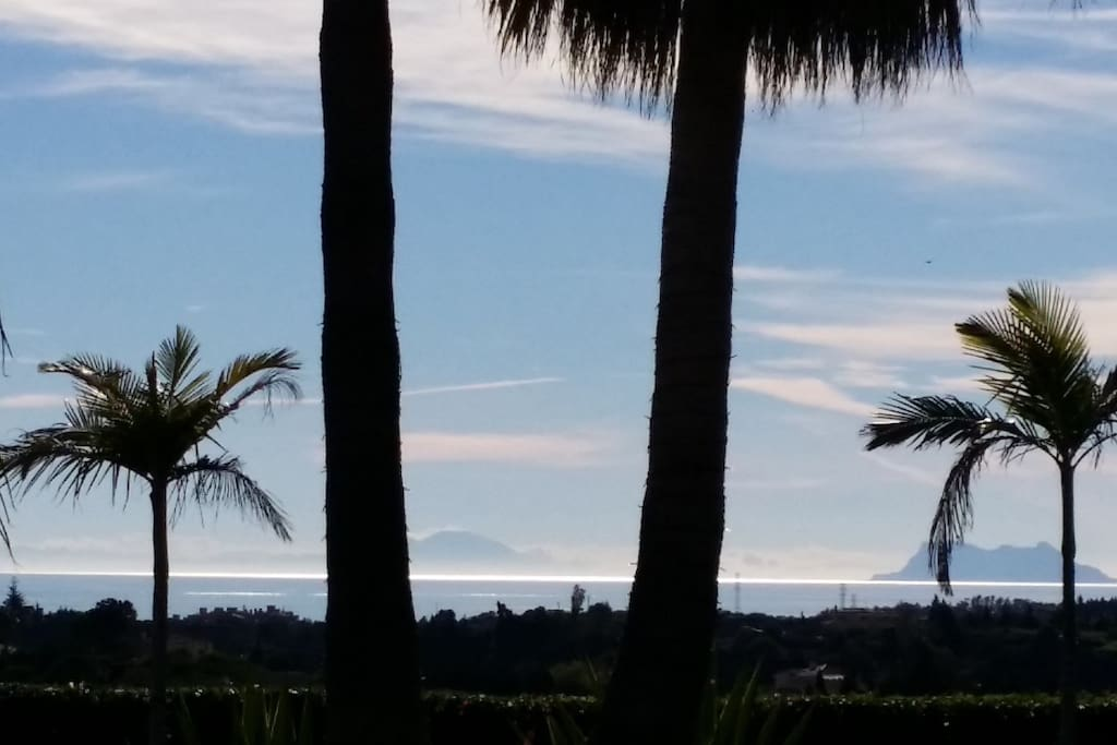Our view to Africa and Gibraltar