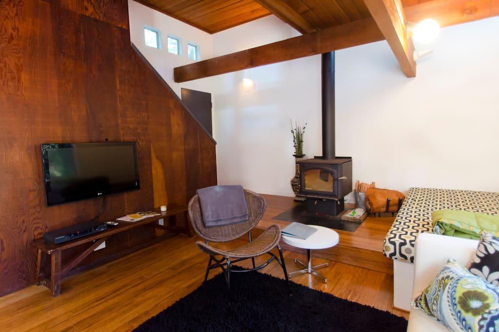 Architect cabin in the Redwoods - 카자데로(Cazadero)의 통나무집에서 살아 ...
