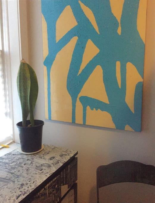 Window/corner angle of room
