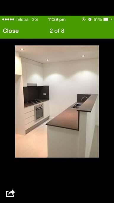 Modern kitchen with essentials