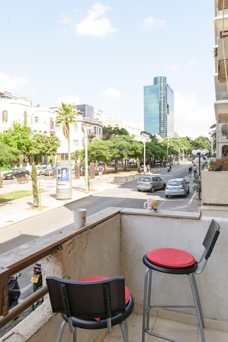 Balcony on Rothschild blvd.