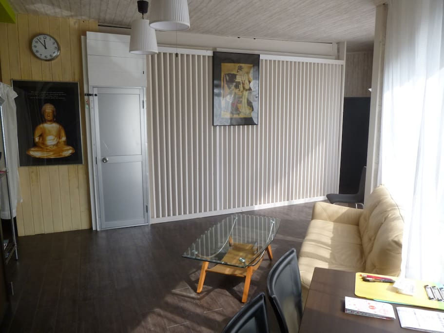 一階リビング&ネットスペースThe first floor living room and net space