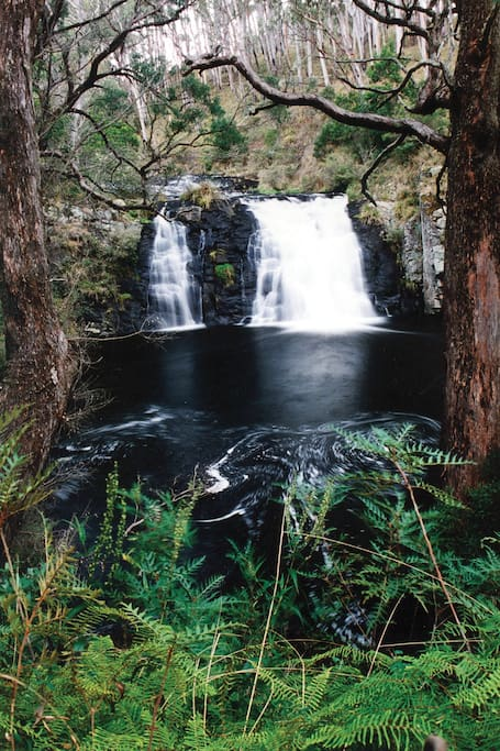 The beautiful Moffat Falls which in the view from the main bedroom