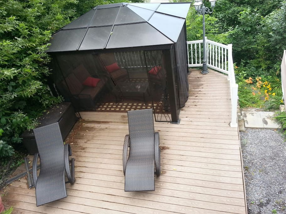 Belle terrasse de repos