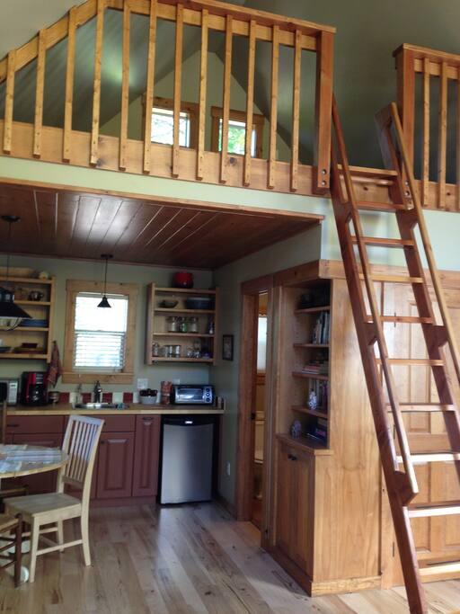 Kitchenette & sleeping loft