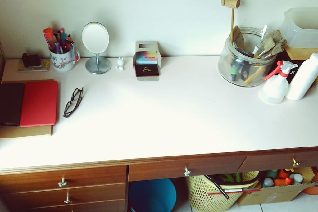 桌子也可使用