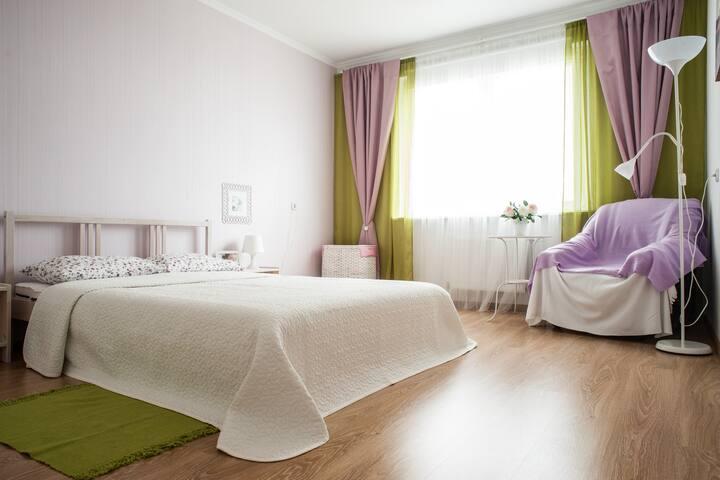 Апартаменты с 2 cпальнями и террасой!