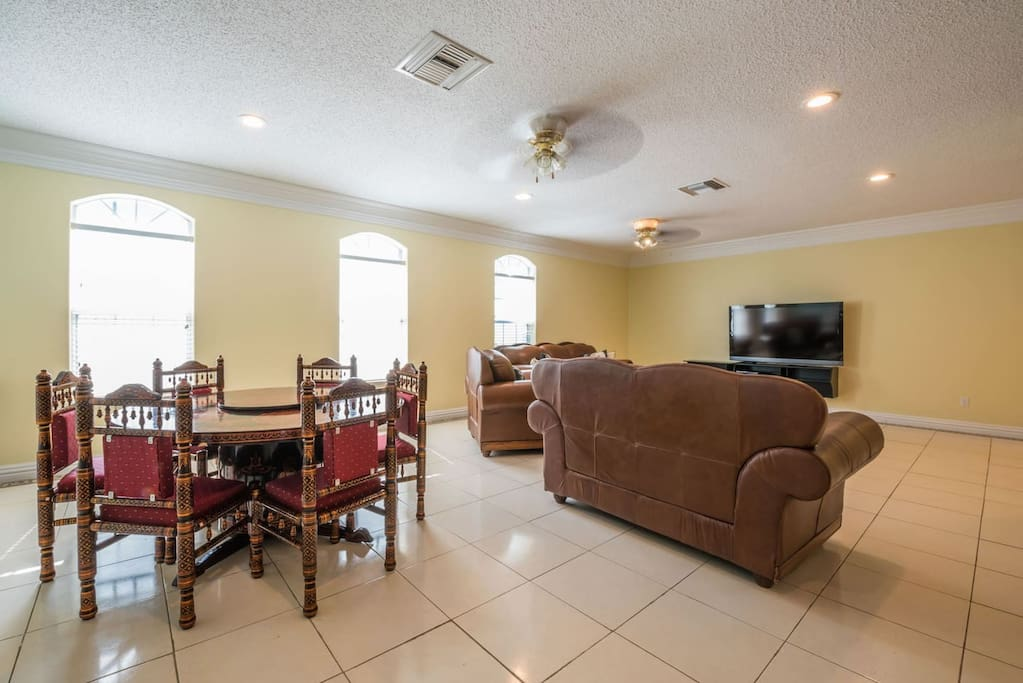 First Floor Dining and Living Room