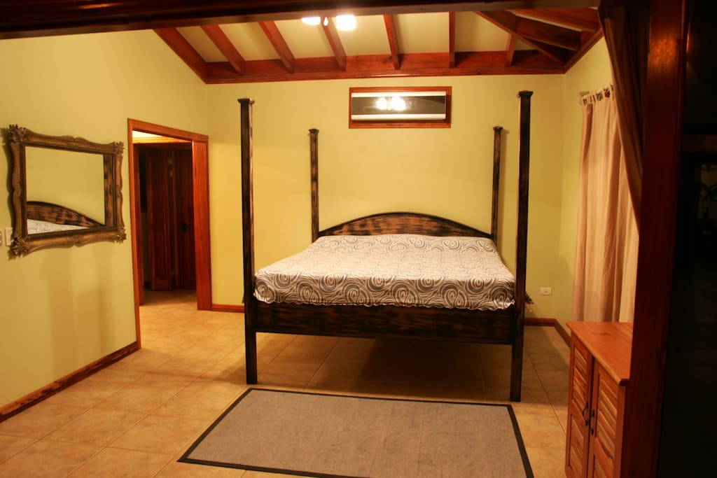 The large master bedroom at Villa Pavones.